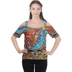 Grateful Dead Rock Band Women s Cutout Shoulder Tee