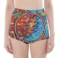 Grateful Dead Rock Band High Waisted Bikini Bottoms