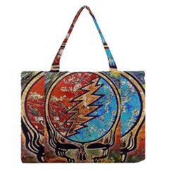 Grateful Dead Rock Band Medium Zipper Tote Bag