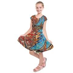 Grateful Dead Rock Band Kids  Short Sleeve Dress