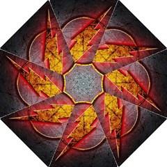 Grunge Flash Logo Folding Umbrellas