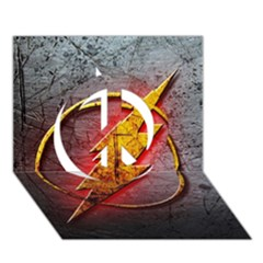 Grunge Flash Logo Peace Sign 3D Greeting Card (7x5)