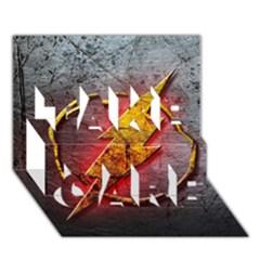 Grunge Flash Logo Take Care 3d Greeting Card (7x5)