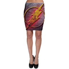 Grunge Flash Logo Bodycon Skirt