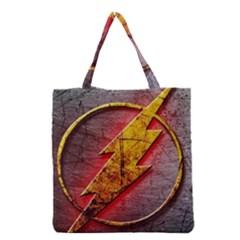 Grunge Flash Logo Grocery Tote Bag