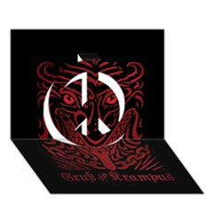 Gruss Vom Krampus Peace Sign 3d Greeting Card (7x5)