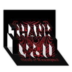 Gruss Vom Krampus Thank You 3d Greeting Card (7x5)