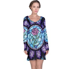 Cathedral Rosette Stained Glass Beauty And The Beast Long Sleeve Nightdress
