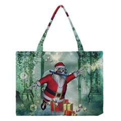 Funny Santa Claus In The Underwater World Medium Tote Bag
