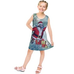 Funny Santa Claus In The Underwater World Kids  Tunic Dress