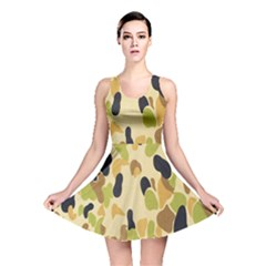 Army Camouflage Pattern Reversible Skater Dress