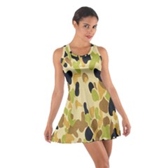 Army Camouflage Pattern Cotton Racerback Dress