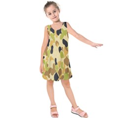 Army Camouflage Pattern Kids  Sleeveless Dress