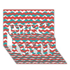 Geometric Waves Miss You 3d Greeting Card (7x5)