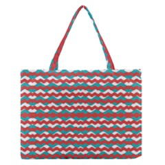 Geometric Waves Medium Zipper Tote Bag