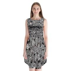 Black And White, Art, Pattern, Historical Sleeveless Chiffon Dress