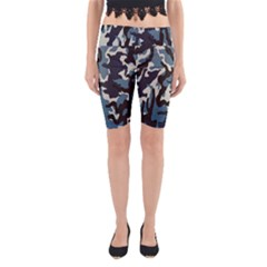 Blue Water Camouflage Yoga Cropped Leggings