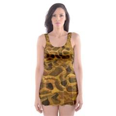 Camo Skater Dress Swimsuit