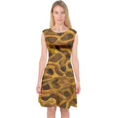 Camo Capsleeve Midi Dress