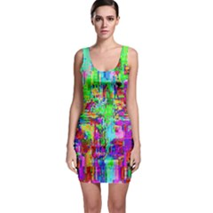 Compression Pattern Generator Sleeveless Bodycon Dress