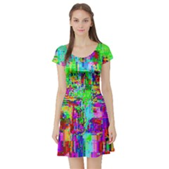 Compression Pattern Generator Short Sleeve Skater Dress
