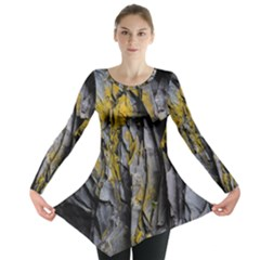 Grey Yellow Stone Long Sleeve Tunic
