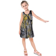 Grey Yellow Stone Kids  Sleeveless Dress