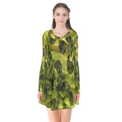Olive Seamless Camouflage Pattern Flare Dress