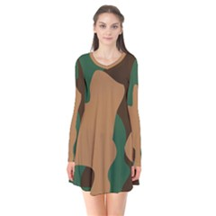 Military Camouflage Flare Dress