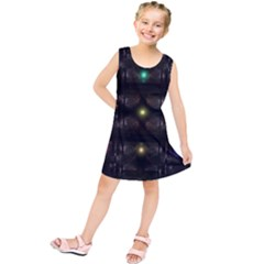 Abstract Sphere Box Space Hyper  Kids  Tunic Dress