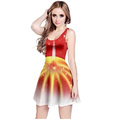 Advent Candle Star Christmas Reversible Sleeveless Dress