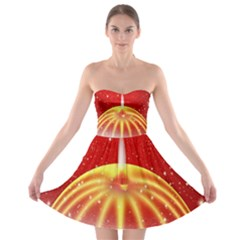 Advent Candle Star Christmas Strapless Bra Top Dress