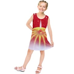 Advent Candle Star Christmas Kids  Tunic Dress