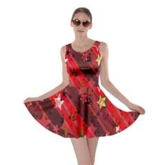 Advent Star Christmas Poinsettia Skater Dress