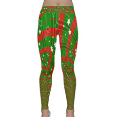 Background Abstract Christmas Pattern Classic Yoga Leggings