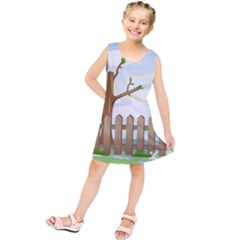Background Spring Winter Summer Kids  Tunic Dress