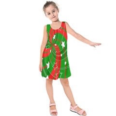 Background Abstract Christmas Kids  Sleeveless Dress