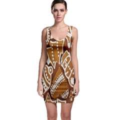 Biscuit Brown Christmas Cookie Sleeveless Bodycon Dress