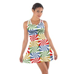 Candy Pattern Cotton Racerback Dress