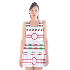 Christmas Borders Frames Holiday Scoop Neck Skater Dress