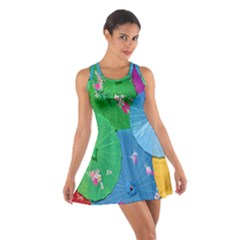 Chinese Umbrellas Screens Colorful Cotton Racerback Dress
