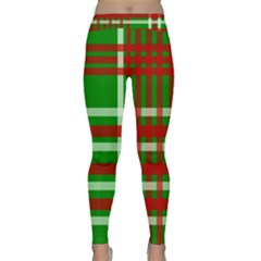 Christmas Colors Red Green White Classic Yoga Leggings