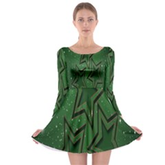 Christmas Holidays Greetings Long Sleeve Skater Dress