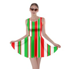 Christmas Holiday Stripes Red Skater Dress