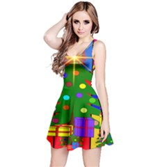 Christmas Ornaments Advent Ball Reversible Sleeveless Dress
