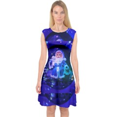 Christmas Nicholas Ball Capsleeve Midi Dress