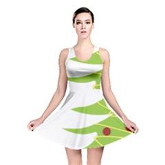 Christmas Tree Christmas  Reversible Skater Dress