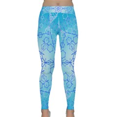 Design Winter Snowflake Decoration Classic Yoga Leggings