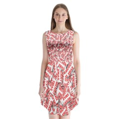 Merry Christmas Xmas Pattern Sleeveless Chiffon Dress