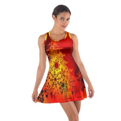 Red Silhouette Christmas Star Cotton Racerback Dress